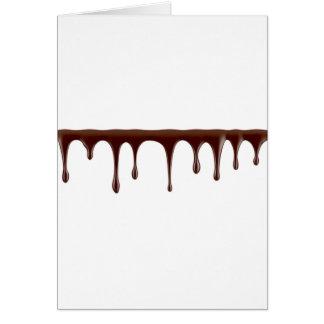 Cartão Chocolate derretido