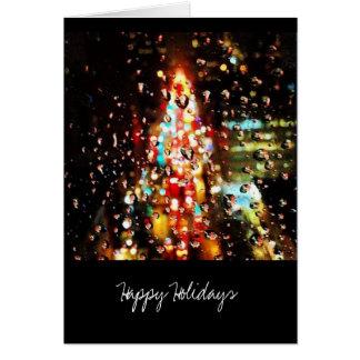 Cartão Chover a cidade ilumina o feriado