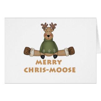 Cartão Chris-Alces alegres