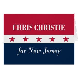 Cartão Chris Christie para New-jersey