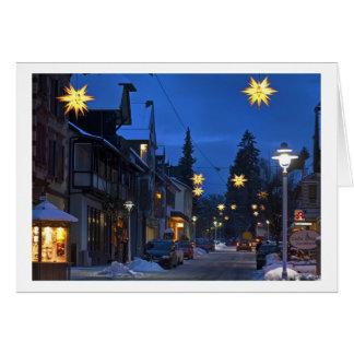 Cartão Christmas Card Black Forest town