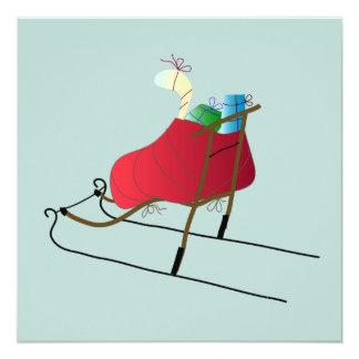 Cartão Christmas Card Kick Sled