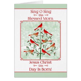 Cartão Christmas>SING O CANTA ESTE AMANHECER ABENÇOADO,