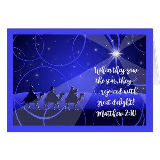 Cartão Christmas>TREASURE em NOSSOS CORAÇÕES, Magi segue