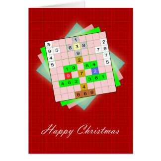 Cartão ChristmasTree - Natal Sudoku figurativo