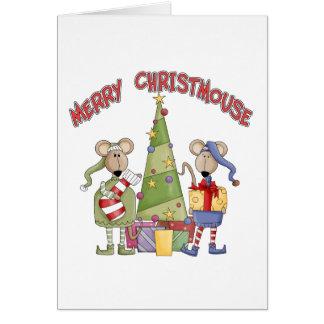 Cartão Christmouse alegre