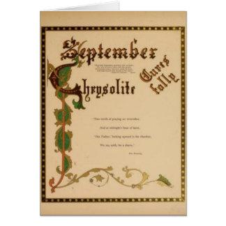 Cartão Chrysolite de setembro
