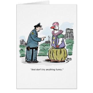 Cartão Chui que fala ao palhaço engraçado
