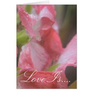 Cartão Chuva cor-de-rosa