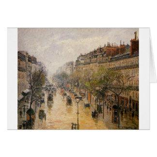 Cartão Chuva de primavera Camille Pissarro de Montmartre