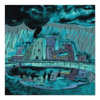 Cartão Chuva do outono