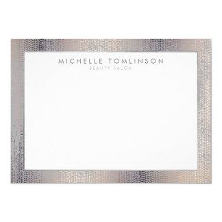 Cartão Chuva Luxe Notecard liso cinzento dos confetes do
