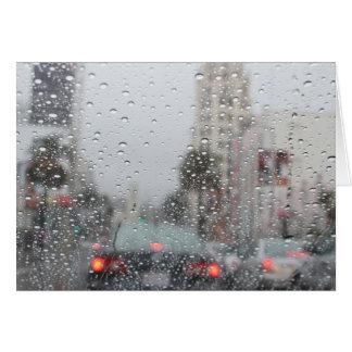 Cartão chuva no LA