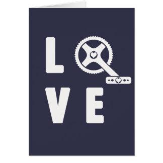 Cartão Ciclismo do amor