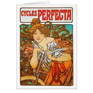 Cartão Ciclos Perfecta, belas artes Nouveau de Alphonse