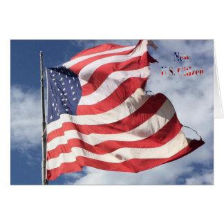 Cartão Cidadão novo dos E.U.: Vôo da bandeira