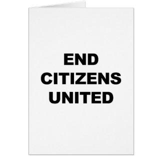 Cartão Cidadãos da extremidade unidos