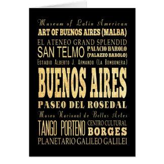 Cartão Cidade de Buenos Aires da arte da tipografia de