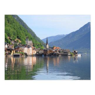 Cartão - cidade de Hallstatt e lago, Áustria
