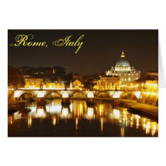 Cartão Cidade do Vaticano, Roma, Italia na noite