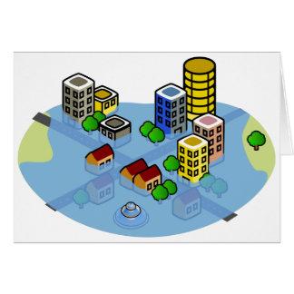 Cartão Cidade inundada