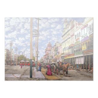 Cartão Cidade - Nova Orleães a era 1887 do Victorian