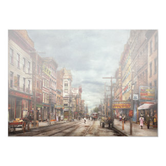 Cartão Cidade - NY - o mercado nunca em mudança 1906