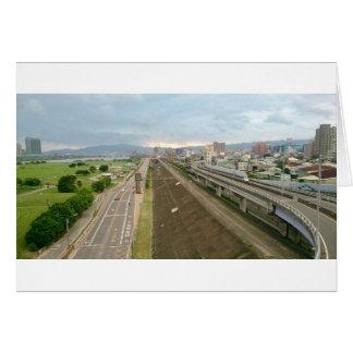 Cartão Cidade taiwanesa e paisagem