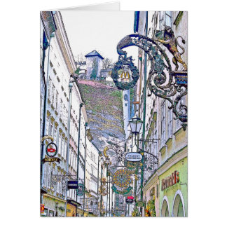 Cartão cidade velha - Salzburg