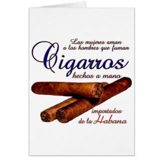 Cartão Cigarros - Cirars
