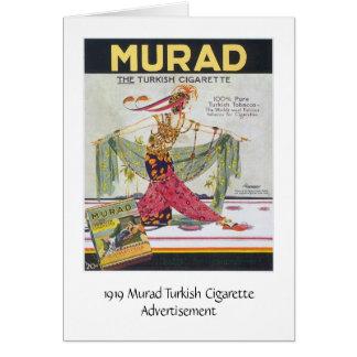 Cartão Cigarros do turco de Murad