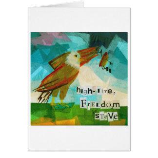Cartão Cinco liberdade alta Steve