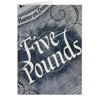 Cartão Cinco libras