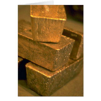Cartão Cinco tijolos do ouro de 90 libras