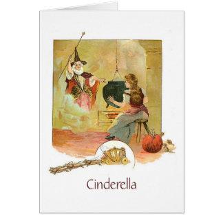 Cartão Cinderella e madrinha feericamente (vazio para
