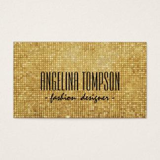 Cartão cintilante do desenhador de moda do metal