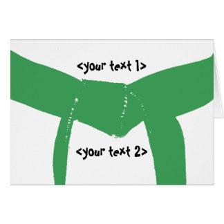 Cartão Cinto verde das artes marciais