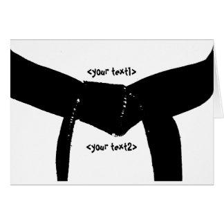Cartão Cinturão negro das artes marciais