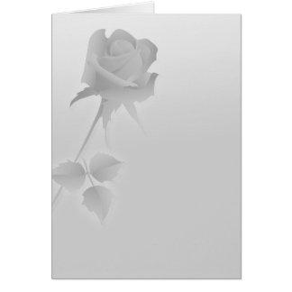 Cartão cinzas cor-de-rosa de um solteiro silencioso