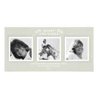 Cartão Cinzas mornas modernas simples 3 Felizes Natais da