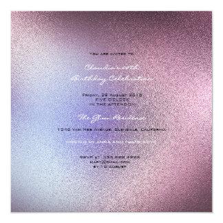 Cartão Cinzas roxas Amethyst cor-de-rosa de vidro mínimas