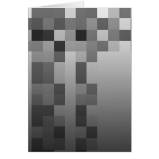 Cartão Cinzas, teste padrão preto e branco dos quadrados