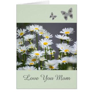Cartão cinzento amarelo e branco da mamã do amor
