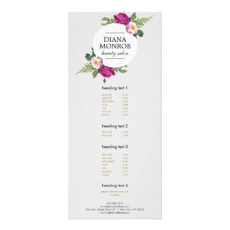 Cartão cinzento da cremalheira do salão de beleza 10.16 x 22.86cm panfleto