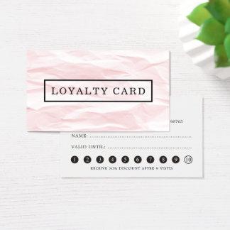 Cartão cinzento da lealdade do rosa elegante
