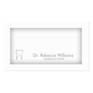 Cartão cinzento da sombra da beira do dentista do cartão de visita