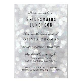 Cartão cinzento moderno dos convites do almoço das