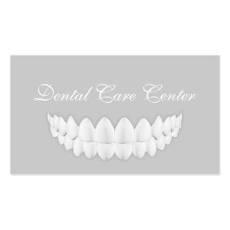 Cartão cinzento simples da odontologia do sorriso cartão de visita