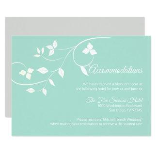 Cartão cinzento verde da acomodação do casamento