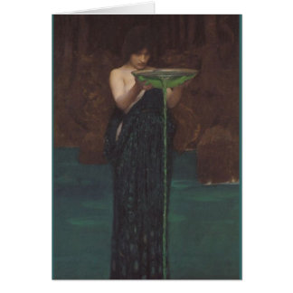 Cartão Circe Invidiosa por John William Waterhouse